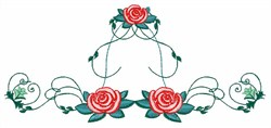 Swirl Roses embroidery design