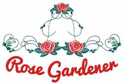 Rose Gardener embroidery design