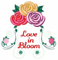 Love in Bloom embroidery design
