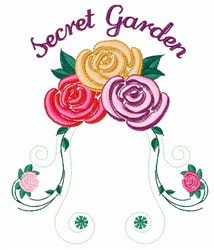 Secret Garden embroidery design