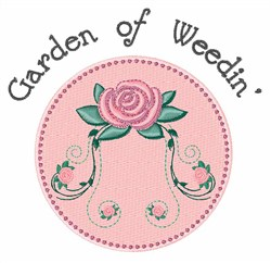 Weedin Garden embroidery design