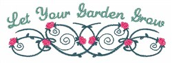 Garden Grows embroidery design