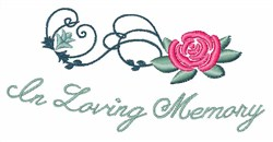 Loving Memory embroidery design