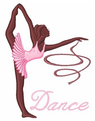 Dance Lady embroidery design