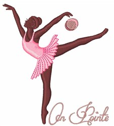 On Pointe embroidery design