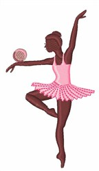 Gymnast Ball embroidery design