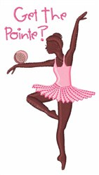 Get the Pointe embroidery design