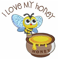 Love Honey embroidery design