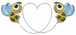 Bee Heart embroidery design
