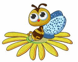 Daisy Bee embroidery design