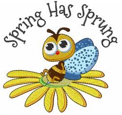 Spring Sprung embroidery design