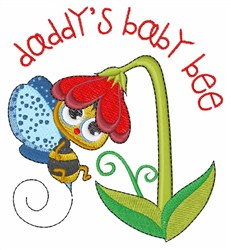 Daddys Bee embroidery design