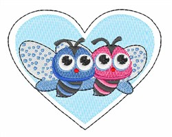 Bees Heart embroidery design
