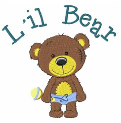 Lil Bear embroidery design