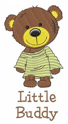 Little Buddy embroidery design
