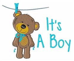 Boy Bear embroidery design