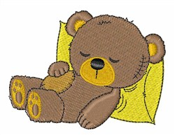 Sleepy Bear embroidery design
