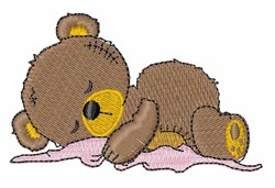 Nap Bear embroidery design