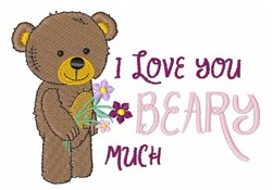 Love Beary embroidery design