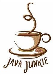 Java Junkie embroidery design