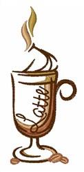 Latte Mug embroidery design