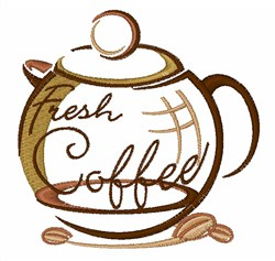 Fresh Coffee embroidery design