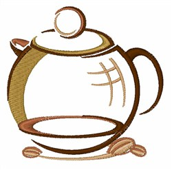 Coffee Pitcher embroidery design