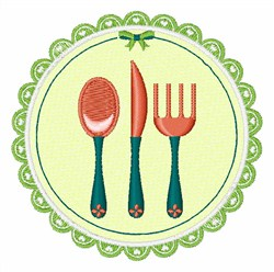 Eating Utensil embroidery design