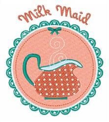Milk Maid embroidery design