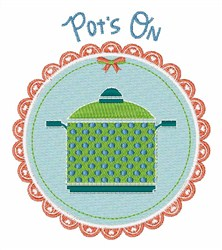 Pots On embroidery design