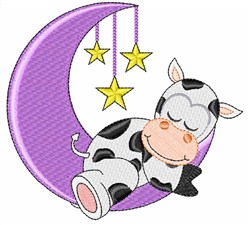 Moon Cow embroidery design