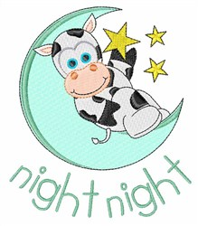 Night Cow embroidery design
