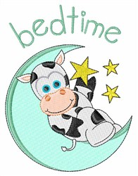 Bedtime Cow embroidery design
