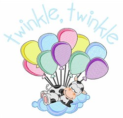 Twinkle Cow embroidery design