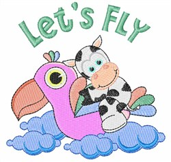 Lets Fly embroidery design