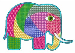 Elephant Patchwork embroidery design