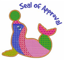 Seal Approval embroidery design