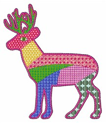Patch Deer embroidery design