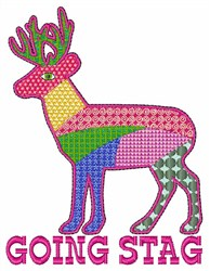 Going Stag embroidery design