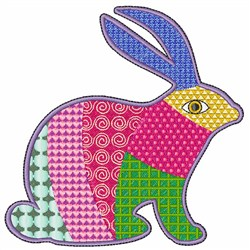 Patch Bunny embroidery design