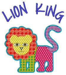 Lion King embroidery design