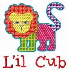 Lil Cub embroidery design
