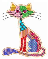 Patch Kitty embroidery design