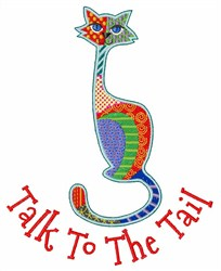 Tail Talk embroidery design