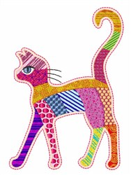 Patch Cat embroidery design