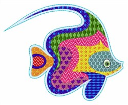Patch Fish embroidery design