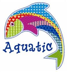 Aquatic Patchwork embroidery design