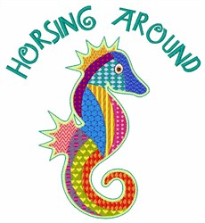 Horsing Around embroidery design