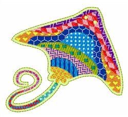 Sting Ray embroidery design