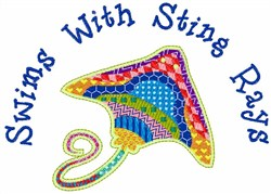 Sting Rays embroidery design